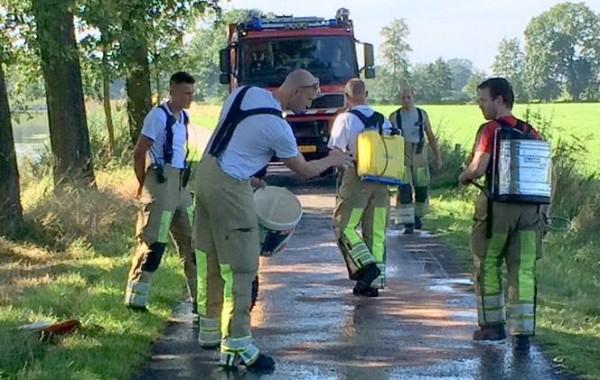 Vervuild wegdek Horsterweg