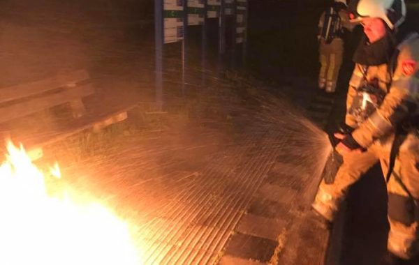Klein buitenbrandje bij de milieustraat