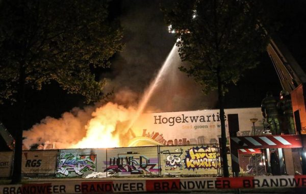 Grote brand in Sporthal Schuilenburg