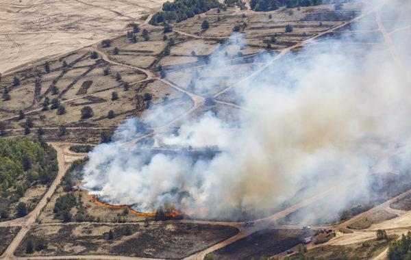 Grote brand op de Leusderheide