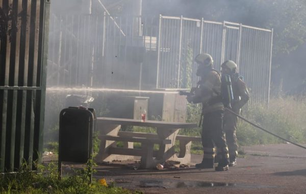 Brand in containers op Bavoortseweg