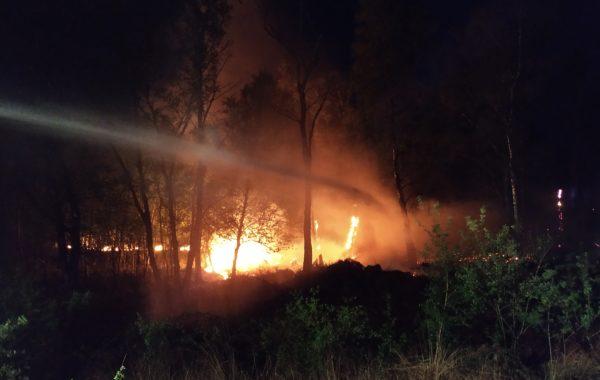 Natuurbrand bijstand in Brabant nabij Deurne